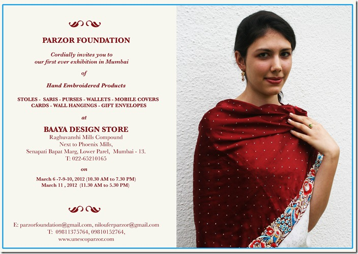 Parzor Baaya Store event 6th to 11th March InvitationCard