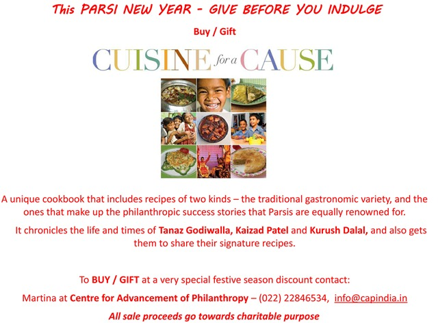 Cuisine for a cause parsi khabar for Cuisine for a cause